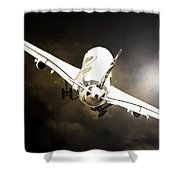 A340 Takeoff Shower Curtain