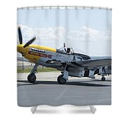 A7k Taxiing Shower Curtain