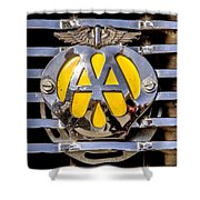 Aa Mu Emblem Shower Curtain