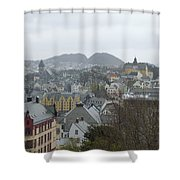 Aalesund From Above Shower Curtain