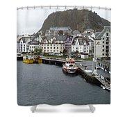 Aalesund Waterways Shower Curtain