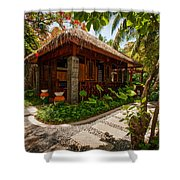Aaramu Spa Hideaway In Tropical Garden. Maldives Shower Curtain