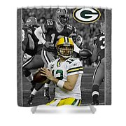 Aaron Rodgers Packers Shower Curtain