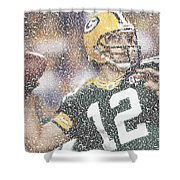 Aaron Rodgers Quotes Mosaic Shower Curtain
