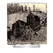 Abandon Montana Mine Shower Curtain