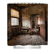 Abandoned Asylum - Haunting Images - What Once Was Shower Curtain by Gary Heller
