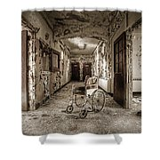Abandoned Asylums - What Has Become Shower Curtain by Gary Heller
