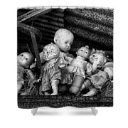 Abandoned Baby Dolls Shower Curtain