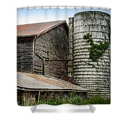 Abandoned Barn Shower Curtain
