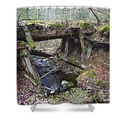 Abandoned Boston And Maine Railroad Timber Bridge - New Hampshire Usa Shower Curtain by Erin Paul Donovan