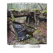Abandoned Boston And Maine Railroad Timber Bridge - New Hampshire Usa Shower Curtain