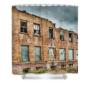 Abandoned Brick Building Shower Curtain