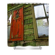 Abandoned Cabin Elkmont - Coming Down Clover Shower Curtain