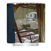 Abandoned Cabin Elkmont Smoky Mountains - Screened Door Old House Shower Curtain