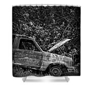 Abandoned Car Road To Hana Maui Shower Curtain
