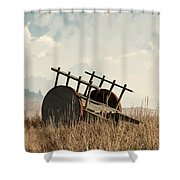 Abandoned Cart Shower Curtain