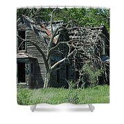 Abandoned Country Kansas Farm House Shower Curtain