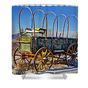 Abandoned Covered Wagon Shower Curtain