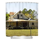Old Abandoned Cracker Home Shower Curtain