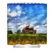 Abandoned Farm 03 Photo Art Shower Curtain