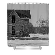 Abandoned Farmhouse Shower Curtain