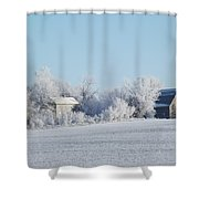 Abandoned Frost Farm Shower Curtain