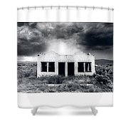 Abandoned Gas Station In Nm Shower Curtain