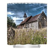 Abandoned Grave In The Churchyard Shower Curtain