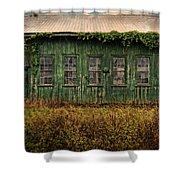 Abandoned Green Sugar Mill Building Dsc04353 Shower Curtain