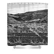 Abandoned Highway - Yakima County - Washington Shower Curtain