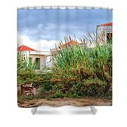 Abandoned Holiday Resort Shower Curtain