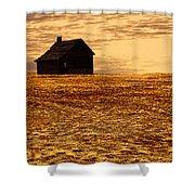 Abandoned Homestead Series Golden Sunset Shower Curtain