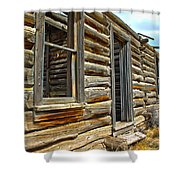 Abandoned Homestead Shower Curtain by Shane Bechler