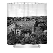 Abandoned House And Barn - Alstown - Washington - May 2013 Shower Curtain