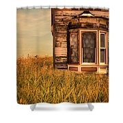 Abandoned House In Grass Shower Curtain