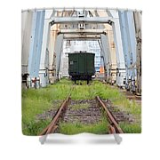 Abandoned Industrial Dock Shower Curtain