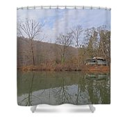 Abandoned Island Home Shower Curtain