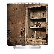 Abandoned Kitchen Cabinet B Shower Curtain
