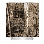 Abandoned Marble Quarry Shower Curtain
