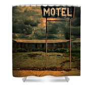 Abandoned Motel Shower Curtain