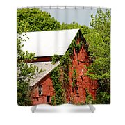 Abandoned Old Barn Shower Curtain