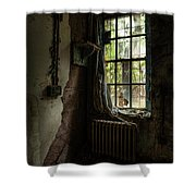 Abandoned - Old Room - Draped Shower Curtain