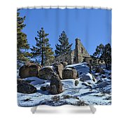 Abandoned On The Mountain Shower Curtain