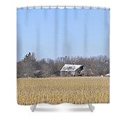 Abandoned Panoramic Shower Curtain
