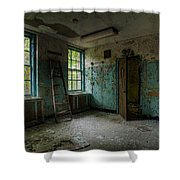 Abandoned Places - Asylum - Old Windows - Waiting Room Shower Curtain