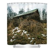 Abandoned Places - Old House - House On The Hill Shower Curtain