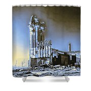 Abandoned Slaughterhouse In Winter Shower Curtain