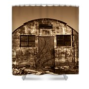 Abandoned Storage Shed Shower Curtain