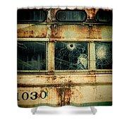Abandoned Train Car Shower Curtain