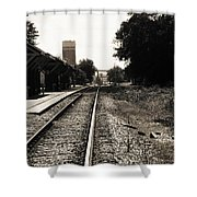 Abandoned Train Station Shower Curtain